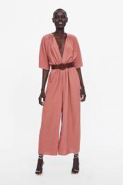 Belted Wrap Jumpsuit by Zara at Zara