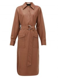 Belted faux leather shirtdress at Matches