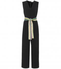 Belted faux-wrap jumpsuit at Mytheresa