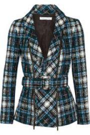 Belted tweed jacket by Oscar de la Renta at Net A Porter