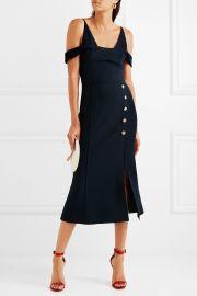 Beltran cold-shoulder crepe midi dress by Rebecca Vallance at Net A Porter