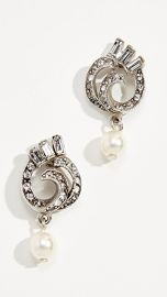 Ben-Amun Swirl Imitation Pearl Drop Post Earrings at Shopbop