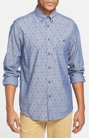 Ben Sherman Paisley Print Chambray Shirt at Nordstrom