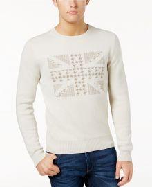 Ben Sherman Union Jack Jacquard Sweater at Macys