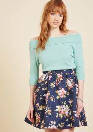 Benevolent Belle Fit and Flare Skirt at ModCloth