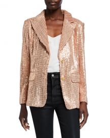 Berek Sequin Two-Button Blazer at Neiman Marcus