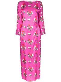 Bernadette Kelly Floral Print Midi Dress - Farfetch at Farfetch