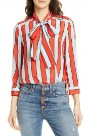 Berta Tie Neck Silk Blouse at Nordstrom