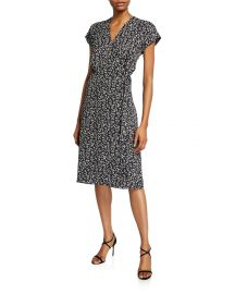Bethwyn Ditsy Floral Wrap Dress at Neiman Marcus