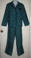 Betsey Johnson Blue Leopard Print PJs at eBay