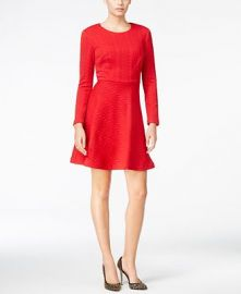 Betsey Johnson Cable-Knit Fit and Flare Dress at Macys