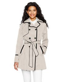 Betsey Johnson Corset Back Trench at Amazon