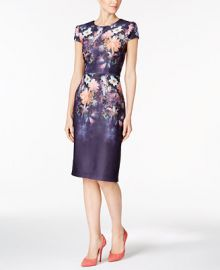 Betsey Johnson Floral-Print Sheath Dress at Macys