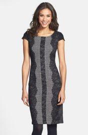 Betsey Johnson Lace Trim Tweed Sheath Dress at Nordstrom