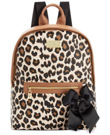 Betsey Johnson Macys Exclusive Leopard Backpack at Macys