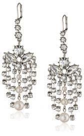 Betsey Johnson Pretty Pearl Punk Earrings at Amazon