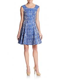 Betsey Johnson Printed Fit and Flare Dress at Saks Off 5th