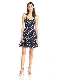 Betsey Johnson Womenand39s Halter Neck Polka Dot Flare Dress  Amazoncom at Amazon