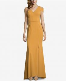 Betsy & Adam One-Shoulder A-Line Gown at Macys
