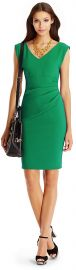 Bevin Dress in Emerald at DvF