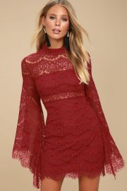 Bewitching Lace Bell Sleeve Dress by Lulus at Lulus