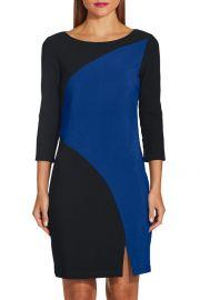 Beyond Travel Colorblock Curve Dress by Beyond Proper at Boston Proper