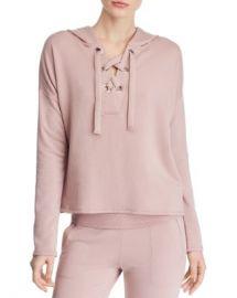 Beyond Yoga Over Tied Lace-Up Fleece Hooded Sweatshirt  Women - Bloomingdale s at Bloomingdales