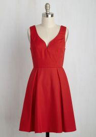 Beyond Your Wildflower Dreams Dress in Poppy at ModCloth