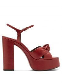 Bianca knotted leather platform sandals at Matches