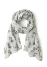 Bicycle print scarf at ModCloth at Modcloth
