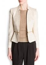 Biege jacket like Emilys at Mango
