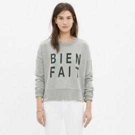 Bien Fait Side Zip Sweatshirt at Madewell