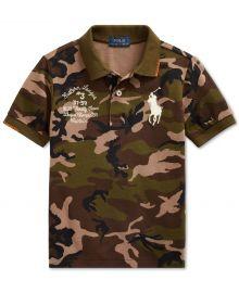 Big Pony Camo Cotton Mesh Polo Shirt at Macys