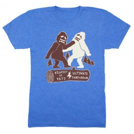 Bigfoot Vs Yeti Ultimate Throwdown Tee by GnomEnterprises at Etsy