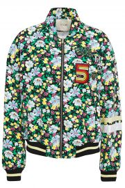 Bikael floral-print crepe bomber jacket at The Outnet