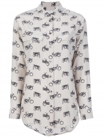 Bike print shirt by Equipment at Farfetch