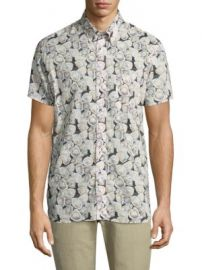 Billy Reid - Oyster Printed Short Sleeve Shirt at Saks Fifth Avenue