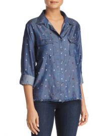 Billy T Heart Print Button-Down Chambray Shirt Women - Bloomingdale s at Bloomingdales