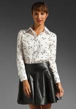 Bird print blouse like Robins at Revolve
