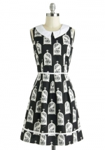 Birdcage print dress at ModCloth at Modcloth