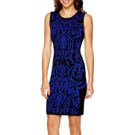 Bisou Bisou Sleeveless bodycon sweater dress at JC Penney