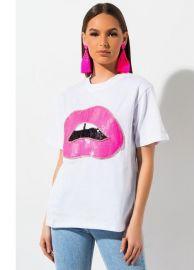 Bite Me Lip T-Shirt by Akira Label at Shop Akira