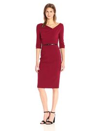 Black Halo Women s 3 4 Sleeve Jackie O Dress at Amazon