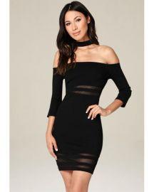 Black Ariella Choker Dress by Bebe at Bebe