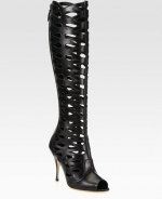 Black Electra Cutout Boots by Brian Atwood at Saks Fifth Avenue