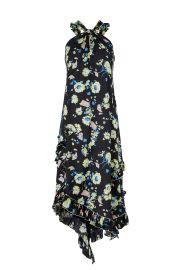 Black Floral Halter Dress by Derek Lam 10 Crosby at Rent The Runway