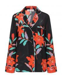 Black Floral Pajama Shirt by Diane von Furstenberg  at Yoox