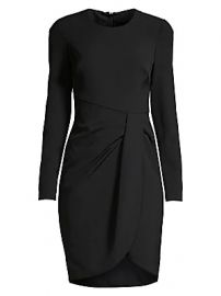 Black Halo - Ivana Ruched Faux Wrap Sheath Dress at Saks Fifth Avenue