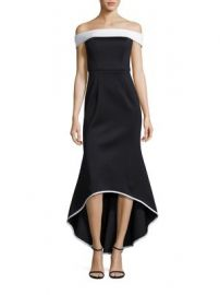 Black Halo - Leta Off-the Shoulder Gown at Saks Fifth Avenue