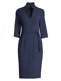 Black Halo - Madeline Tie-Front Sheath Dress at Saks Fifth Avenue